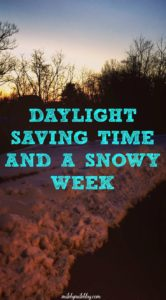 Changing the clocks always throws me off, and snow in March didn't help! Dark mornings and icy roads meant more indoor workouts this week.