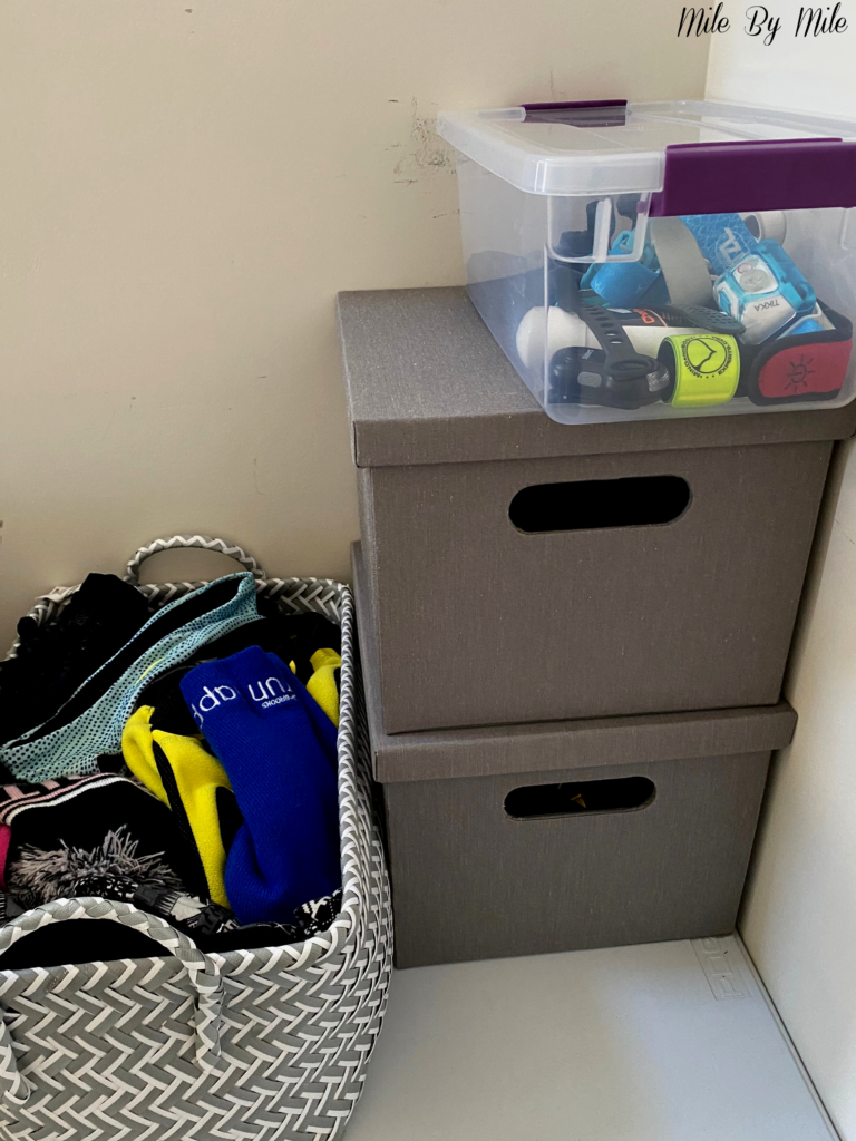 how to organize your running gear