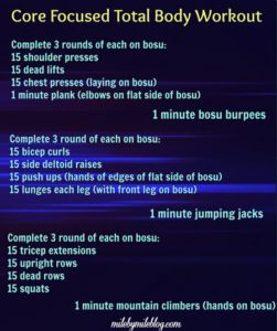 Core Focused Total Body Workout