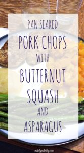 This easy and healthy meal only takes 30 minutes! Flavorful pork chops with healthy veggies make this into a well-rounded dish that the whole family will enjoy.