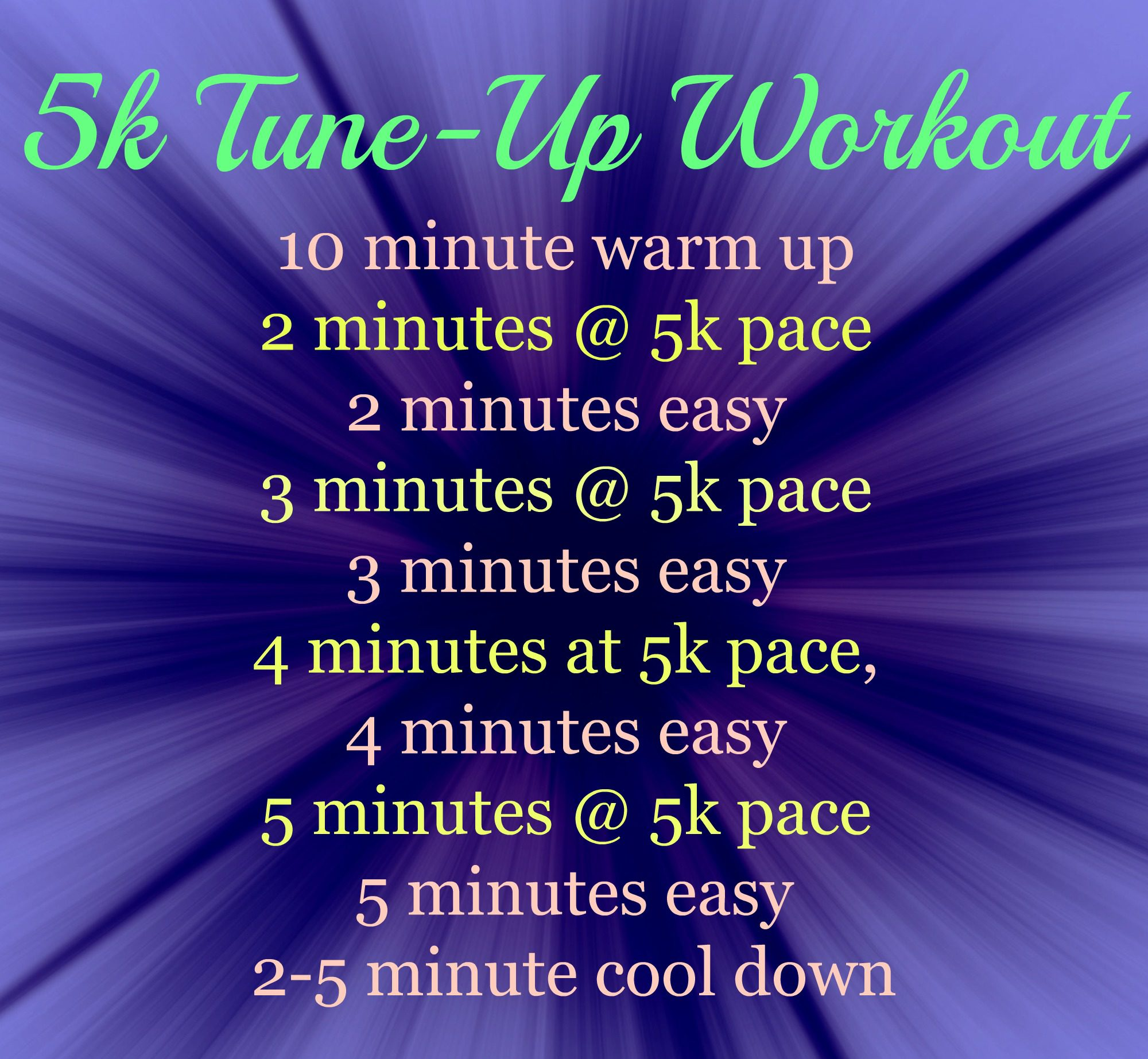 5k Tune up workout
