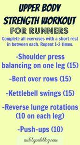 Upper Body Strength Training for Runners