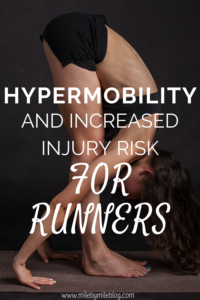 Runners often stretch to try to gain flexibility, but sometimes too much mobility is not a good thing for runners. Hypermobility can actually lead to a higher risk of injury in runners. This post shares some information about hypermobility, how to know if you are at risk for injuries due to hyper mobility, and what you can do to increase stability and prevent injuries. #hypermobility #runninginjuries