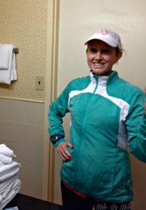 tips for running in the rain: wear a running hat