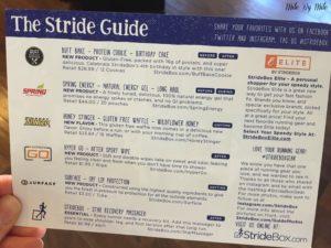 Stridebox Stride Guide
