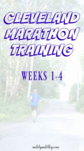 A peek into the first 4 weeks of marathon training. Low mileage, cross training, and base-building are the focus right now.