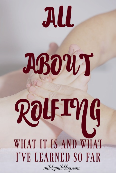 Rolfing is a type of massage that helps to realign the body after injury. Click post to learn more about this technique and what I am learning through the process of seeing a Rolfer.