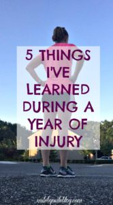 After dealing with injury for over a year, I've learned a few lessons along the way. No one wants to go through challenging times but these situations can help us grow the most.