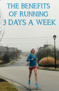 Do you have to run more to get faster? Not necessarily. There are many benefits to following a 3 day per week running schedule. It can also help prevent injury. Click post to read more. #running #training #runningtips