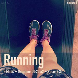 3 mile intervals