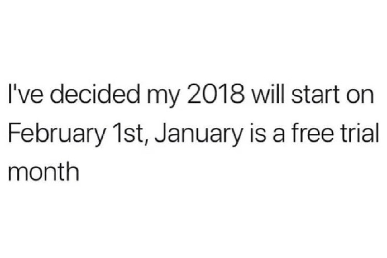 January is a free trial month