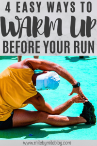 We all know it's important to warm up before a run, but this is something that is often skipped. Here are 4 easy ways to warm up before a run. #run #running #warmup