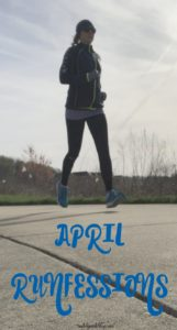 It's the last Friday in April which means it's time for runfessions! I'm talking about indoor running, allergies, and races this month! Click post to read what I'm runfessing. #running #workouts #races