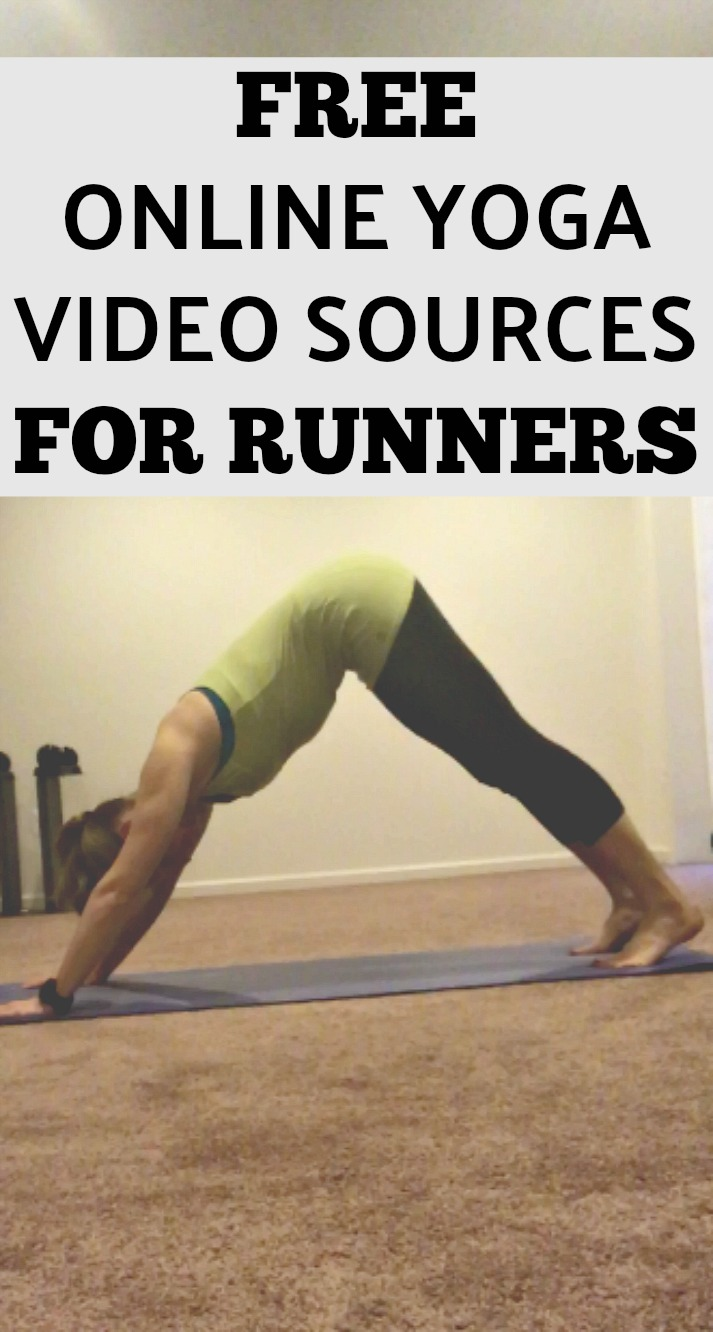 Looking to start an at-home yoga practices? Here are some plans to find free online videos to get you started! #yoga #yogaforrunners