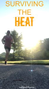 Some weeks in the summer it's all about just surviving the heat. Check out this post to see my workouts from last week as well as how I adjusted my long run due to a heat wave. #running #workouts