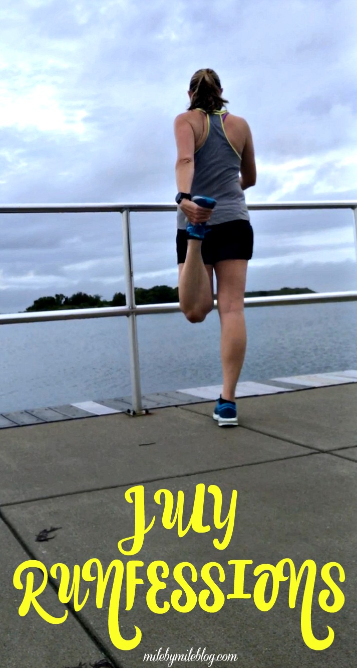 It's the last Friday of July, which means it's time for runfessions! This month I'm talking about my blogging break, running hills while pregnant, and avoiding the treadmill! #running #fitness