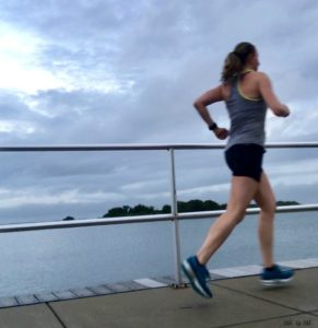 running by the bay