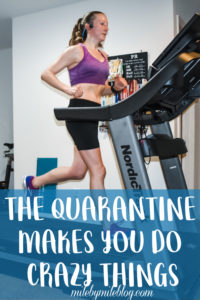 Even though I am no longer training for a half-marathon, I still got in some good runs this week! This included a virtual 5k and a half-marathon on the treadmill. Check out my post to read more about how the quarantine makes you do crazy things. #run #running #workouts