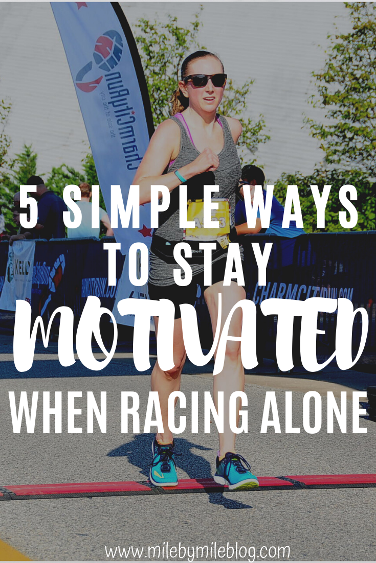 It can be difficult to stay focused and motivated during a race, especially if you are racing alone. Here are some ways to stay mentally strong and motivated while racing alone. #running #runningtips