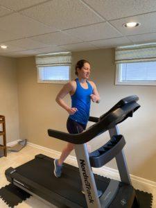 Laura treadmill run