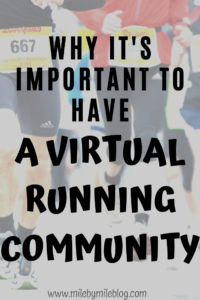 Even when we are not forced to practice social distancing, it's still important to have a virtual running community. Connecting with other runners virtually is helpful, fun, and powerful. Here's why it's important to have a virtual running community and some ways to find a running community online. #running #runningtips