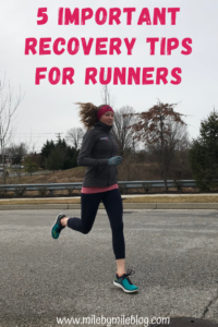 Recovery is so important for runners! It doesn't need to be complicated, but it needs to be consistent. Here are my top 5 important recovery tips for runners. #running #runningtips