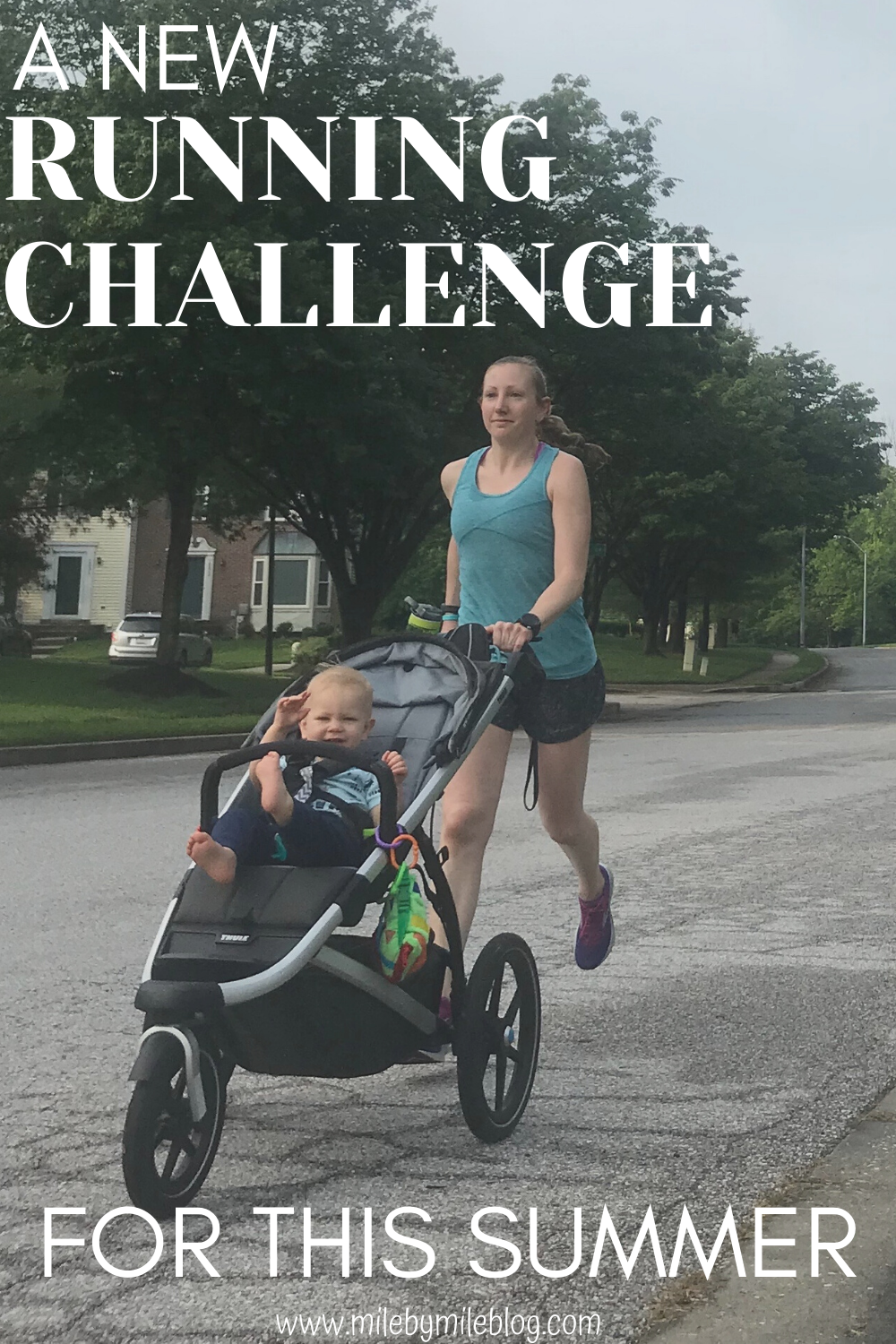 Without any races planned, I've been wanting to do a new running challenge. I found one that I think will be helpful for me during COVID-19 and while I am stroller running in the summer heat and focusing on strength training. This post is all about my new running challenge for this summer and why I chose this one. #running #challenge
