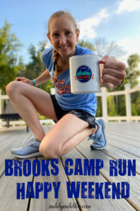 Brooks Running hosted a virtual camp run happy retreat for Brooks run happy team members. It was a fun weekend with both live and pre-recorded events, a happy hour, a virtual run, and more. This was also week 5 of the race across Maryland.