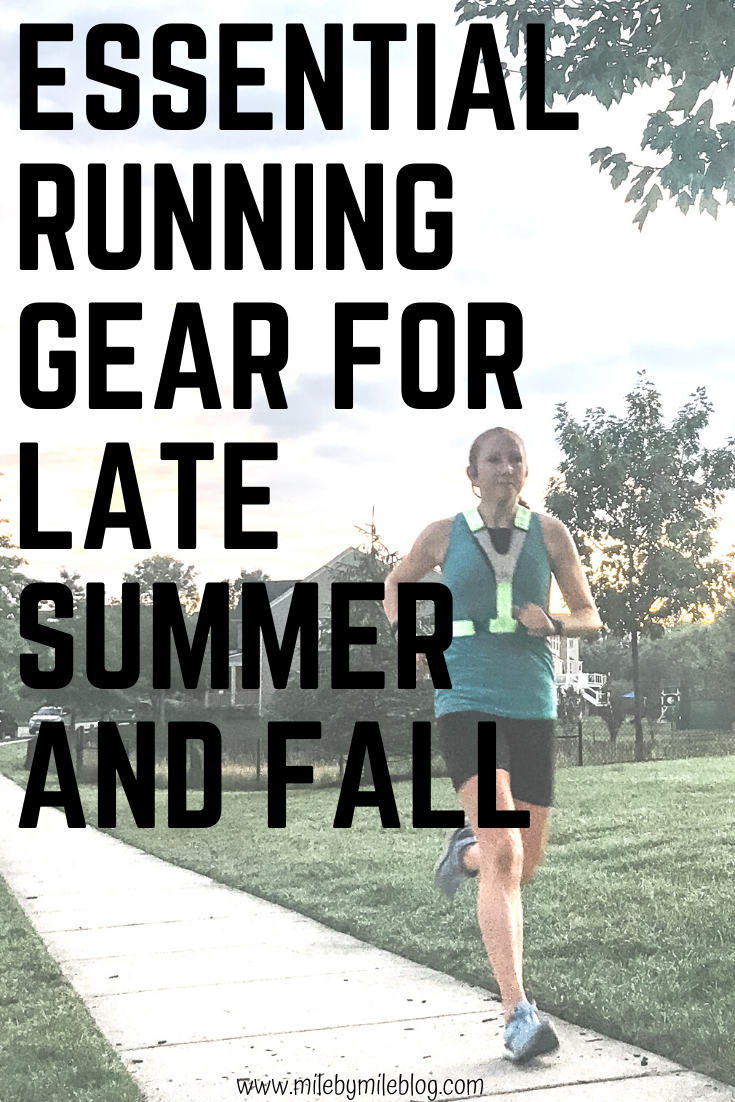 Late summer and fall can be tricky times for running in terms of what kind of running gear you need. In many places it is still very hot but there are also less hours of daylight. When you are running in the dark and the heat it is helpful to have specific types of running gear. These running essentials are perfect for late summer and fall during the transition period to cooler weather.