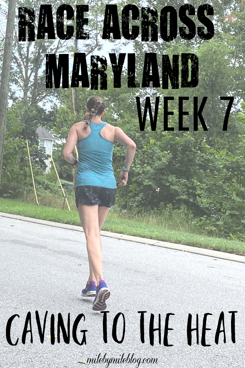 This was week 7 of the Race across Maryland and it was all about caving to the heat. After weeks and weeks of heat and humidity I finally gave in and moved some of my runs to the treadmill. I'm also talking about my July mileage, August goals, and how I'm feeling after this summer challenge.