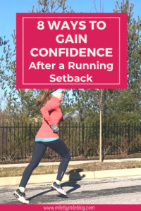 It can be very challenging to gain confidence after a running setback. If you have had an injury, pregnancy, childbirth, or time off for any other reason, returning to running can leave you feeling frustrated if your progress is slow. These 8 ways to gain confidence from Mile by Mile Running will help you prepare for your return to running and work towards gaining the confidence to run hard again. It's important to remember that progress takes time and setbacks are really a setup for a comeback. By taking things slow, staying positive, and tracking your progress, you will be able to gain confidence to return to running after your running setback.
