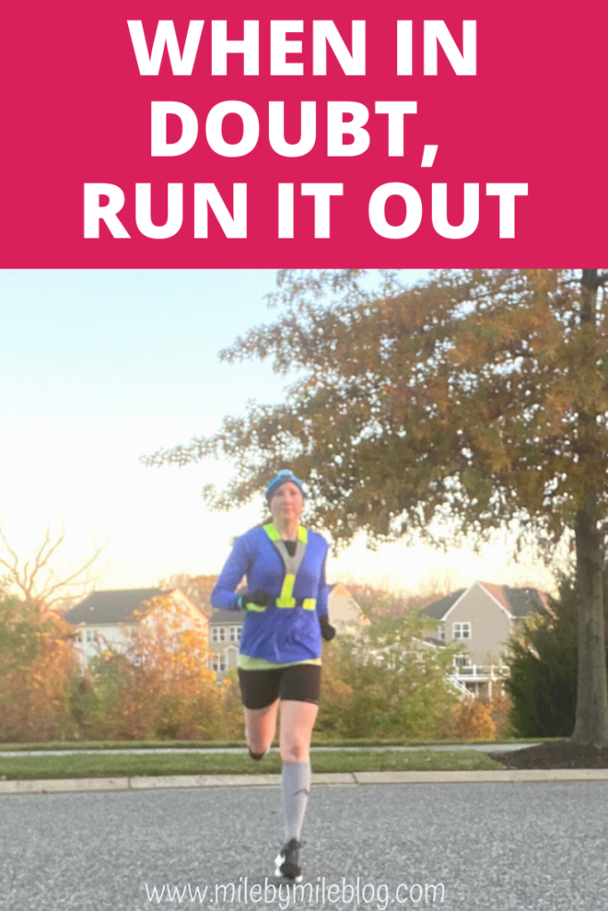 Between the time change, election stress, and rising COVID numbers, it felt like quite a week around here. The best way I know of to deal with stress is by running! When in doubt, run it out.
