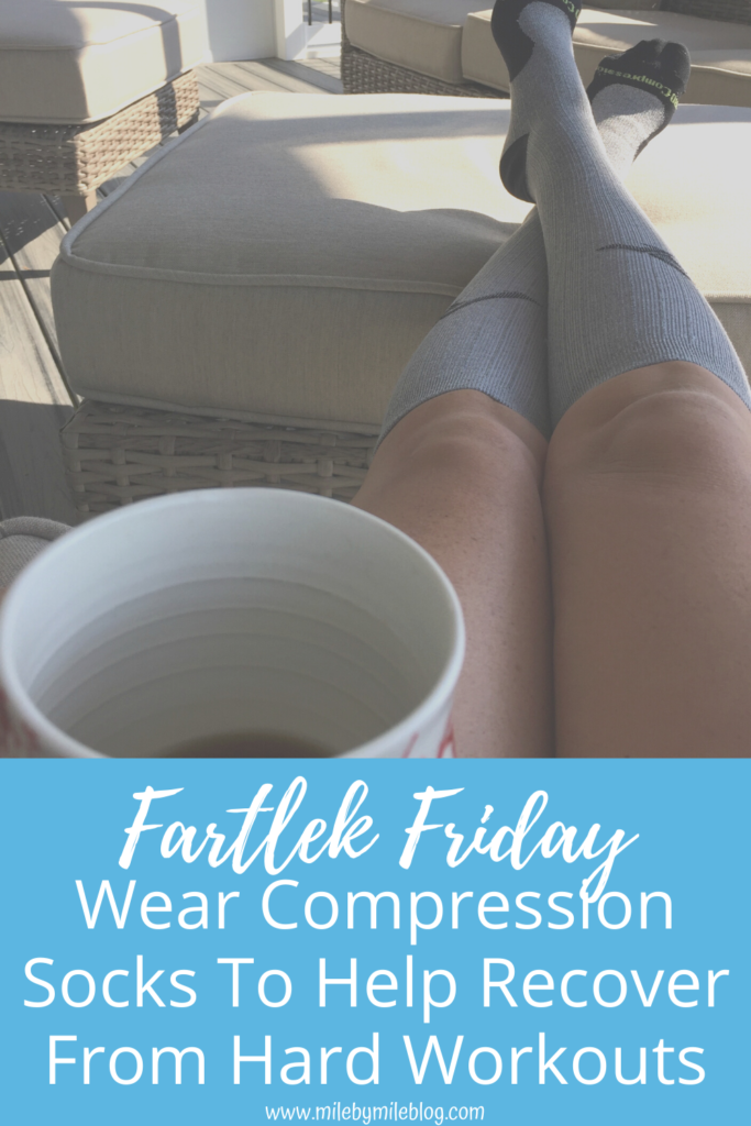 Many runners swear by compression socks, but do they help? Here is some information about why you should try wearing compression socks to help recover from a hard workout.