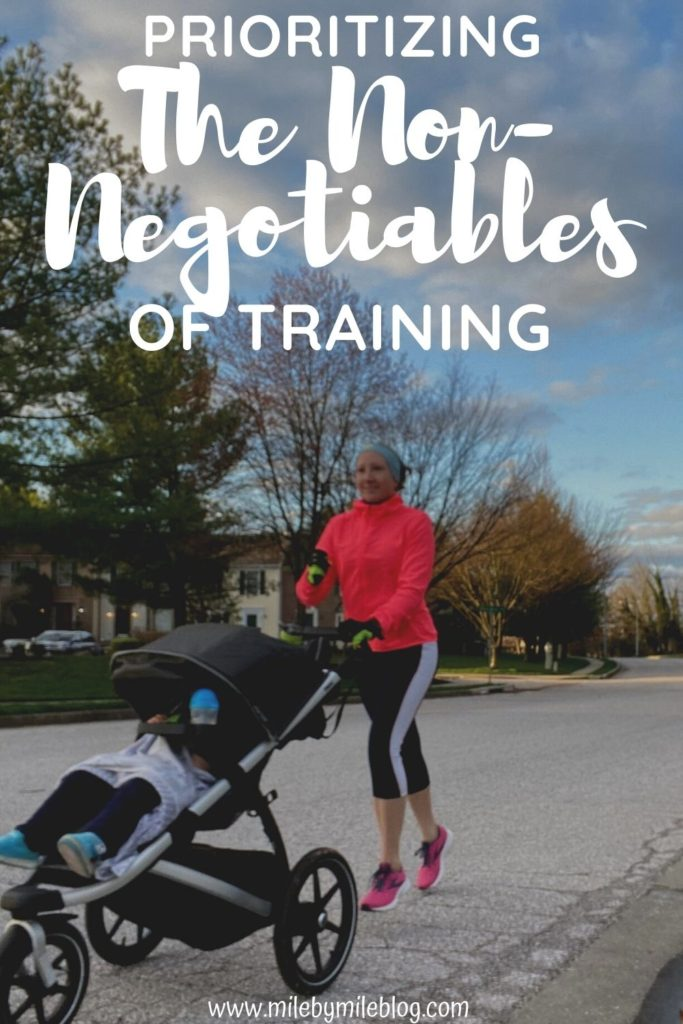This week I focused on prioritizing the non-negotiable of training. I starting thinking about what I NEED to do if I want to increase my mileage and even think about marathon training again. Because there are certain things that I can get away with skipping when I'm running 30 miles a week, but as I get up to 40-50 miles those things become more and more important.