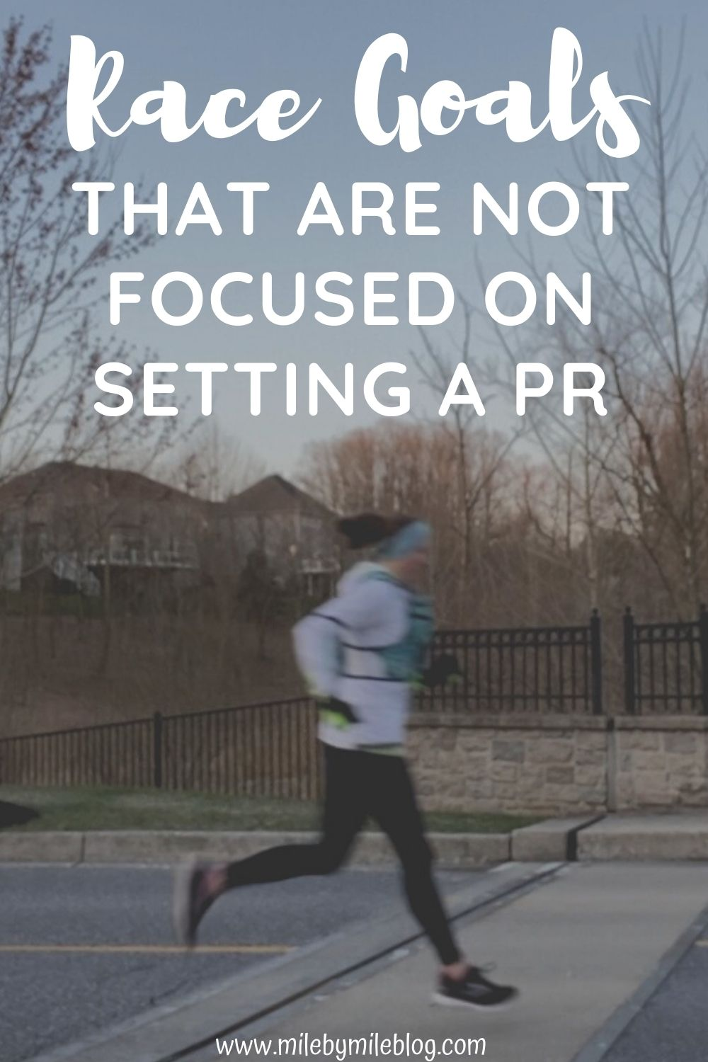 Most runners go into a race hoping to set a PR (or personal record). However, there are many other race goals that you can focus on, especially if you race often or are not in peak racing shape. Focusing on other types of race goals can be great for working on other skills like pacing, fueling, or just enjoying the race environment!