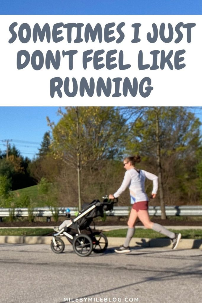Sometimes I just don't feel like running, especially when I'm sick. This week I wasn't feeling well and was stressed and emotionally drained, so I took most of the week off of running.