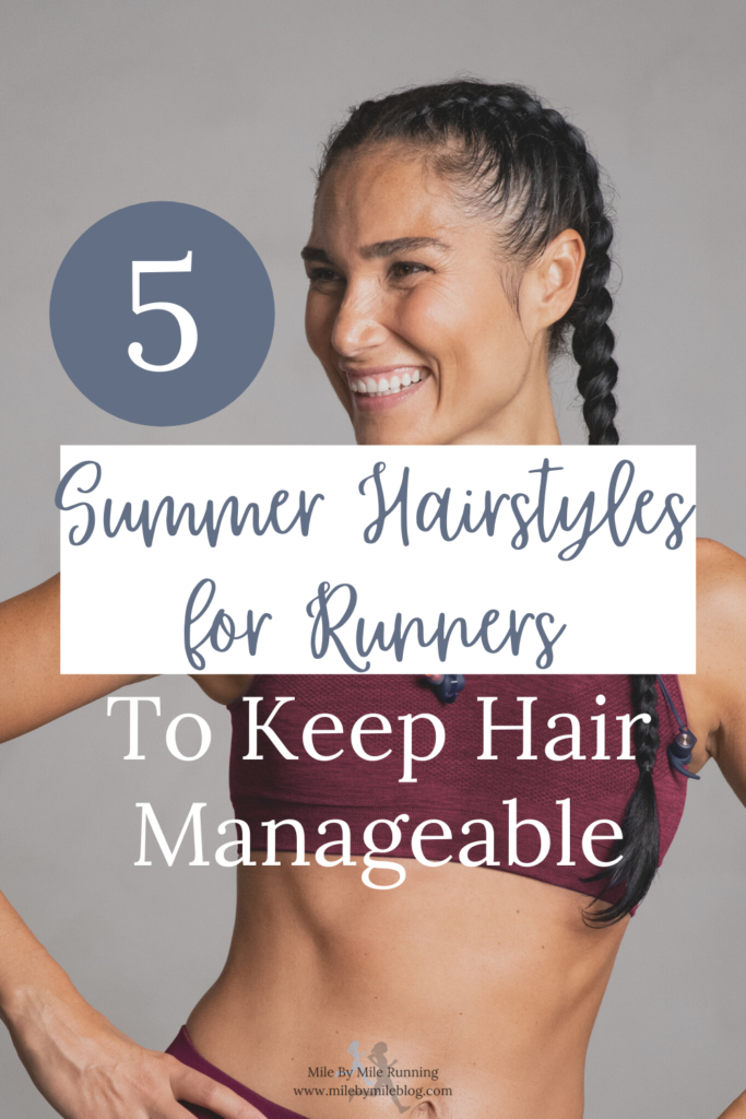 Do you struggle with keeping your hair manageable on summer runs? For a long time I just wore my hair in a regular ponytail and it would be a tangled mess by the time I finished my run. When I've had shorter hair with layers I find that it doesn't all stay back very well. If you're looking for some simple summer hairstyles for runners, give one of these a try! They're easy, functional, and cute!